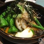 57460433 - 揚げ出汁豆腐と野菜の素揚げ