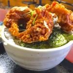 松鶴 - のりカラアゲ丼 横から