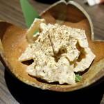 漁菜献舗 鳥新 - 2016.10)蓮根とクリームチーズ和え(380円)
