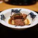 まき村 - 佐賀牛のランプと豆腐(肉豆腐風)