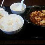 龍厨房 - 麻婆豆腐定食650円
