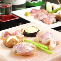 京赤地鶏と野菜焼きセット