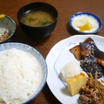 末ぜん - 白身魚西京焼き定食+納豆