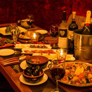 本格スペイン料理×イタリアン