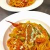 山本商店 - 料理写真:有頭赤海老のトマトクリームパスタ