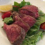 メリプリンチメッサ - 広島の和牛ステーキ(130g)プラスPaccioA(自家製パン・紅茶)(1296円税込)16.7月