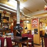 小城 - 店内は小上がりとテーブル席、奥にソファ席も・・・?