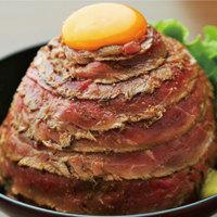 ★名物★レアローストビーフ丼