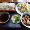 アライ - 料理写真:つけ肉うどん(600円) + 天ぷら_野菜(300円)_2016-10-16