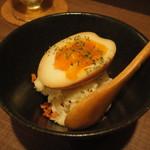 UOK - いぶりがっこと煮玉子のポテサラ