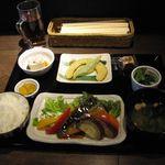 おうちイタリアン御幸町食堂 - ここら屋定食(トロ鯖のオーブン焼き)(2016.03)
