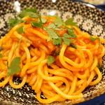 ロットチェント - 辛めのアラビアータ 中太麺(1200円)
