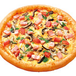 ピザ・ロイヤルハット - ひらたけの大葉ソース SS¥560 S¥1,060 M¥1,800 L¥3,200