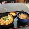 手打ちうどんの店倭 - 料理写真:親子丼とミニうどんのセット、今日のサービス品で800円です♪(2016.10.19)