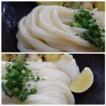 麦衛門 - ◆麺は讃岐系のコシがある滑らかタイプで好み。 本場よりは少し柔らかめの印象ですが、モッチリ感や適度な混みごたえもよく美味しい。