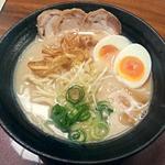 祇園麺処むらじ - 【鶏白 + 煮卵】¥830 + ¥100(税抜)