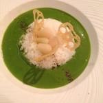 美味これくしょん神田倶楽部 - ほうれん草たっぷり! グリーンカレー(ディナー)