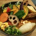 57706668 - 20品目の野菜とチキンのスープカレー1480円。