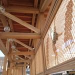 57713874 - 秋田杉をふんだんに使った 秋田駅前の バスの 待ち合い