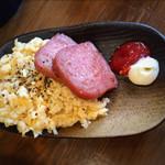 沖縄そば食堂 海辺のそば屋 - LINEの友達登録でいただけたサービス品 ポーク玉子!