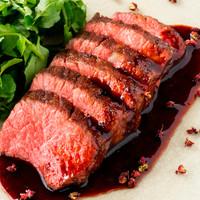国産A5黒毛和牛のステーキ 山椒風味の醤油ソース  厳選赤身