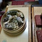 かき小屋フィーバー@BLUEJAWS - 牡蠣セイロ蒸し
