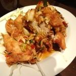 青龍門 - コースの若鶏の唐揚げ甘辛ソースです