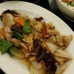 リトル成都 - 【日替わりランチ】豚肉とキクラゲの玉子炒め