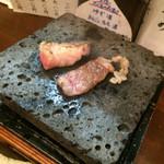 福の根 - 和牛バラ石焼き お肉柔らか〜♪