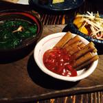 おにかい - 3品の小鉢のお野菜