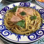 ジョイア・ミーア - 生ハム入りバジリコのスパゲッティ