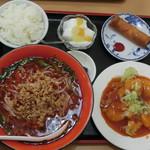 中華料理 喜多郎 - 料理写真:エビチリ定食 台湾ラーメン