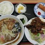 中華料理 喜多郎 - 料理写真:コマ焼定食 醤油ラーメン