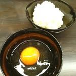 麺劇場 玄瑛  - ご飯は 熊本県産ひのひかり♥ 日本一の こだわり卵掛けご飯♥ v(*≧∀≦*)v 限定20食♥ ディナーセット♥