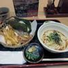 能古うどん - 料理写真:しばらく待つと注文した花かごセット650円が運ばれてきました。