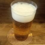 麦酒大学 - 生ビール/一度注ぎ