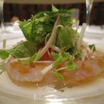 sidedoor hisio  - 金目鯛のカルパッチョ 柚子胡椒ヴィネグレットソース