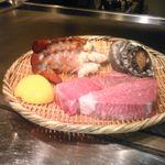 民芸割烹 いなんば - 料理写真:お肉、オマール海老、活鮑、玉葱