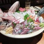 OHASHI - 大漁盛+鯵刺身