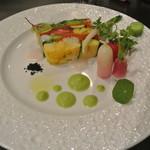 アキヒサ ハンダ - 料理写真:北海道野菜のテリーヌ