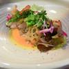 オステリア ベルーガ - 料理写真:サワラのカルパッチョ トマトのガスパチョソース