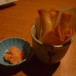 魚民 - お餅とチーズのサクッと揚げ、明太子ソース