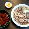 一寸亭 - 料理写真:一寸亭 本店@河北町谷地 肉そば+ハーフかつ丼