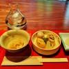 祇園喜鳥 - 料理写真:『切干大根』『炊き合わせ』『漬物』と日本酒ひやおろし『特別純米 川口納豆』~♪(^o^)丿