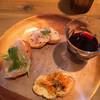 シンパティカリモーネ - 料理写真:前菜と赤ワイン