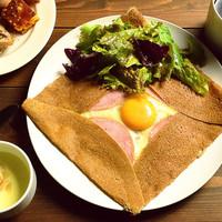 ガレットランチ(卵とハムとチーズ)