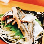 八百保 - 秋刀魚のお造り‼︎脂ものってピカピカ光ってます♡