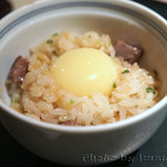 日本料理 徳 - 真珠卵と石垣牛の炊き込みご飯