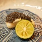 松川 - 鰈の焼きものとキャビア