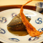 松川 - 蒸し鮑の焼きもの、くちこ